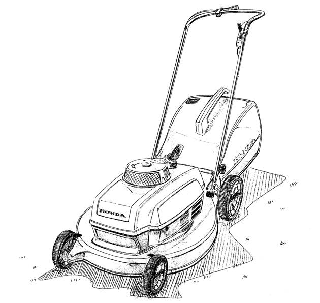 Lawn Mower Drawings Initial Image Drawing
